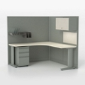 Corben Corner Desk with C Legs, 10360
