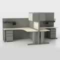 Corben Two Desk Pack with C Legs, 10362