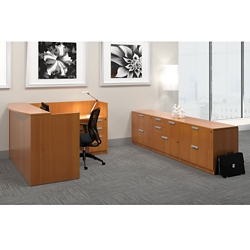 Reception L-Desk with Storage, 14729