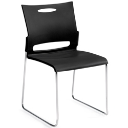Armless Plastic Stack Chair, 51037