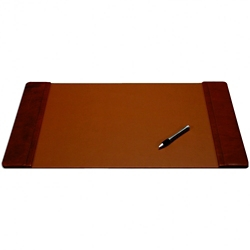 "Leather Side-Rail Desk Pad 25.5""W x 17""D , 92540"