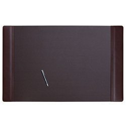 "Leather Side-Rail Desk Pad 38""W x 24""D , 92547"