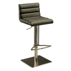 Modern Wood Veneer Back Faux Leather Barstool, 44263