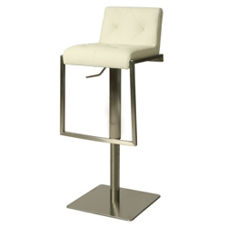 Tufted Back Vinyl Hydraulic Stool, 56591