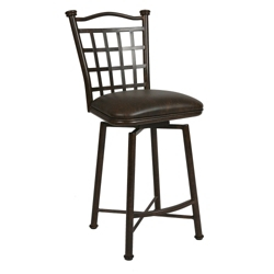 "Metal Frame Faux Leather Barstool - 26""H, 75646"