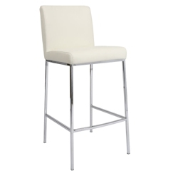 "Contemporary Faux Leather Barstool - 26""H, 75648"