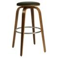 "Modern Wood Veneer Frame Faux Leather Barstool - 26""H, 75657"