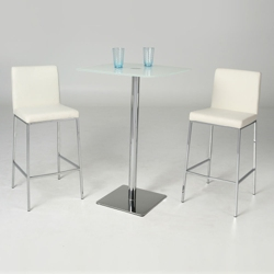 Square Glass Table and Barstools Set, 86033