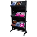 Mobile Double-Sided Literature Rack with Six Shelves, 33385