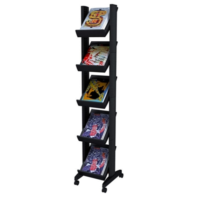 Attractive Mobile Literature Rack   Five Shelves, 33392