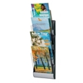 "Four Pocket Magazine Wall Rack - 9""W, 33009"