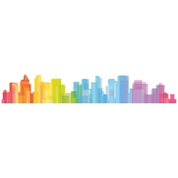 Colorful Skyline Decal, 82514