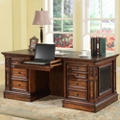 "Double Pedestal Executive Desk - 66""W, 14085"