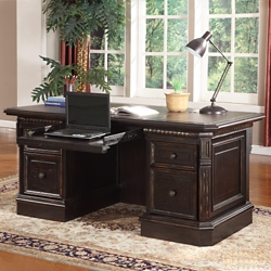"Double Pedestal Executive Desk - 66""W, 14086"