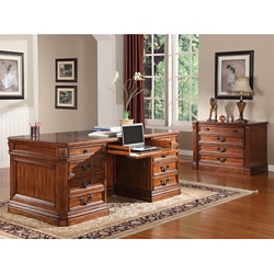 Executive Desk and Lateral File, 14311