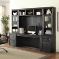 "Storage Desk with Glass Door Hutches - 105""W, 14935"