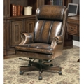 Desk Chair with Nailhead Trim in Leather, 14939