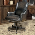 Desk Chair with Nailhead Trim in Leather, 14940