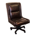 Armless Desk Chair in Leather, 14941