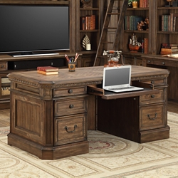 "Double Pedestal Desk - 66""W, 14838"