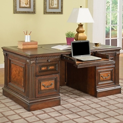 "Double Pedestal Desk - 66""W, 14839"