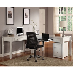 "L-Desk with File - 77""W, 14906"