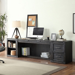 "Minimalist Desk with Storage Units - 105""W, 14930"