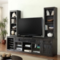 "Media Wall with Two Bookcase Hutches- 105""W, 14933"
