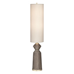 Wood Tone Cylindrical Desk Lamp, 82654