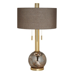 Copper Mercury Glass Table Lamp, 82659