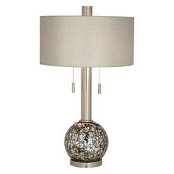 Smoke Mercury Glass Table Lamp, 82660