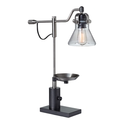Metal Desk Lamp with Tray, 82665