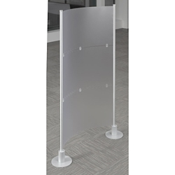"Three Insert Single Room Divider - 72""H, 21372"