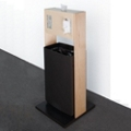 "Waste Receptacle and Tissue Dispenser - 42""H, 82047"