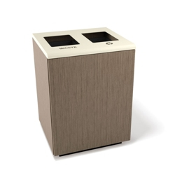 "Two Opening Waste and Recycling Station - 24""W, 82051"