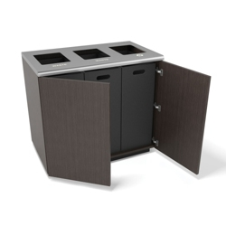"Three Opening Waste and Recycling Station - 36""W, 82052"