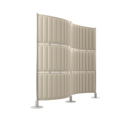 "Six Panel Acoustic Divider - 72""H, 21403"