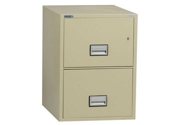 "Fireproof Two Drawer Vertical File - 19.875""W x 31""D, 34038"