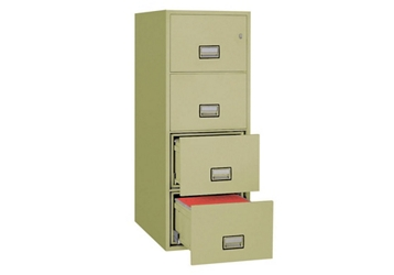"Fireproof Four Drawer Vertical File - 19.875""W x 25""D , 34039"