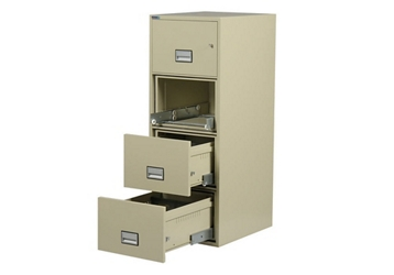 "Fireproof Four Drawer Vertical File - 16.875""W x 31""D, 34045"