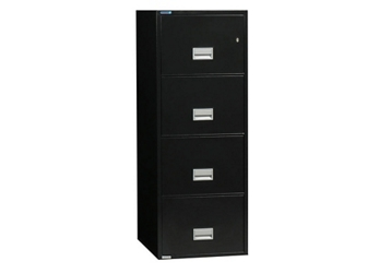 "Fireproof Four Drawer Vertical File - 19.875""W x 31""D, 34040"