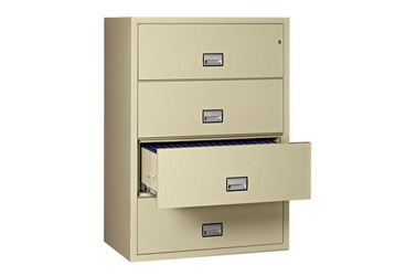 "Fireproof Four Drawer Lateral File - 38.75""W x 23.5""D, 34041"