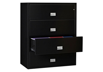 "44"" W x 23.5"" D Fireproof Four Drawer Lateral File, 32297"