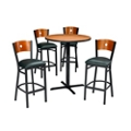 "Circle Back Stools & 36"" Bar Height Table Set, 44054"