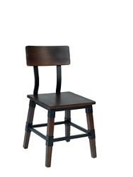 Two-Toned Chair with Wooden Back, 220037