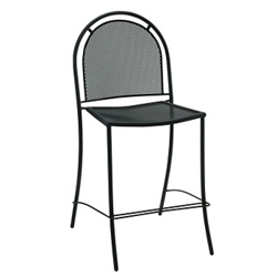 Armless Perforated Metal Outdoor Stool, 50902