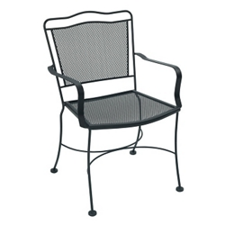 Scalloped Back Metal Outdoor Chair , 50904