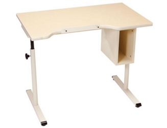 "Adjustable Height Student Desk with Storage - 40""W x 24""D, 26798"