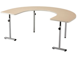 "Half Circular Therawrap Treatment Table - 72""W x 48""D, 26801"