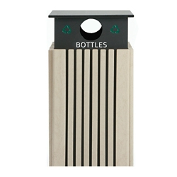 Recycling Receptacle for Bottles - 40 Gallon Capacity, 82145
